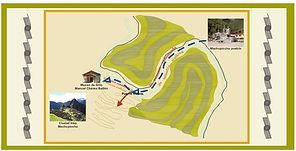 Plan d'accés au musée du Machu Picchu