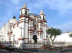 Séjour sur la cote nord du Pérou monastère et église de El Carmen de Trujillo