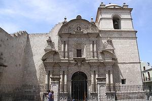 Vacances au Pérou l'église de la Compagnie de Jésus à Arequipa