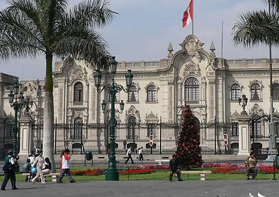 Voyage et découverte Le palais du gouvernement de Lima