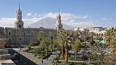 Vacances au Pérou la Cathédraled'Arequipa