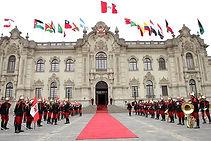 Le palais du gouvernement  à Lima visite au Pérou