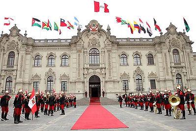 Vacances au Pérou Le palais du gouvernement de lima
