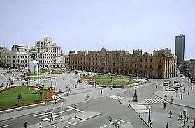 Voyage et vacances au Pérou Plaza San Martin de Lima