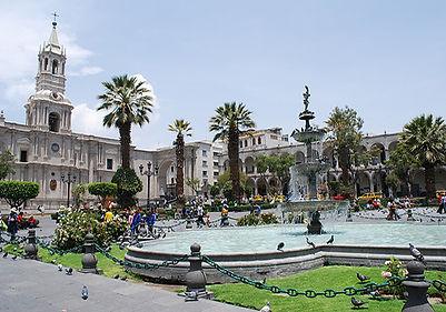 Circuit sur mesure au Pérou la Plaza de Armas d'Arequipa