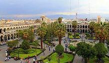 La Plaza de Armas d'Arequipa, la place centrale du centre historique