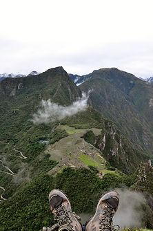 Point de vue du  Huayna Picchu au Machu Picchu