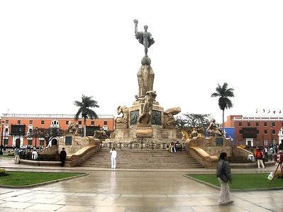 Vacances au Pérou la Plaza de armas de Trujillo