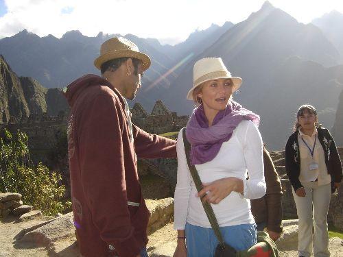 Cameron Diaz au Machu Picchu