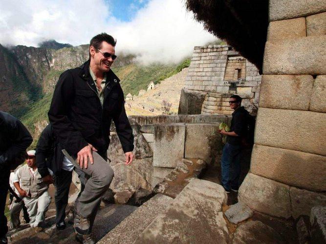Jim Carrey au Machu Picchu