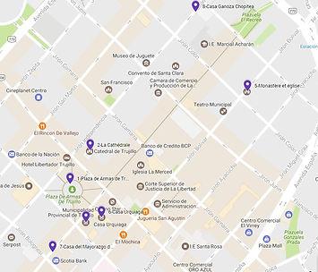 A voir à Trujillo plan des sites
