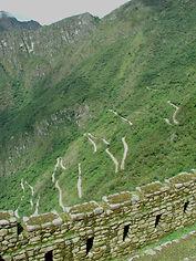 Les Escaliers et ascension pour le Machu Picchu
