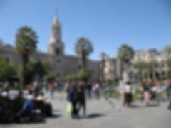 Voyage et découverte la Plaza de Armas d'Arequipa