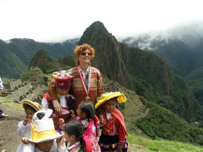 Susan Sarandon au Machu Picchu