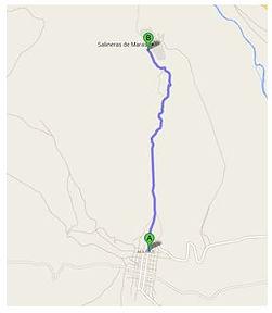 Trek, marche et chemin de Maras aux Salines