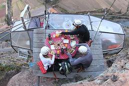 Aventure Skylodge -manger et dormir à 120m de haut