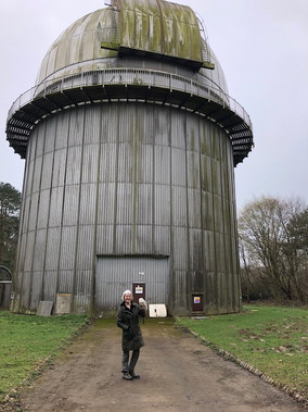 FLYING HIGH WITH 'HALO' AT THE ISAAC NEWTON TELESCOPE DOME