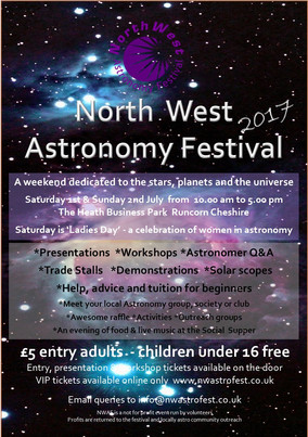 NORTH WEST ASTROFEST 2017