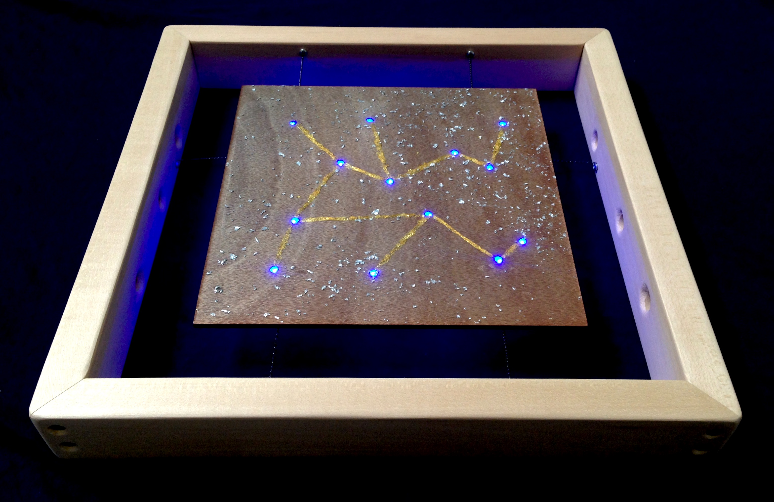 """Illuminated Star Map #1"""