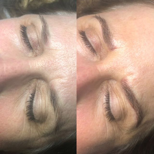 Before and after microblading! The goal