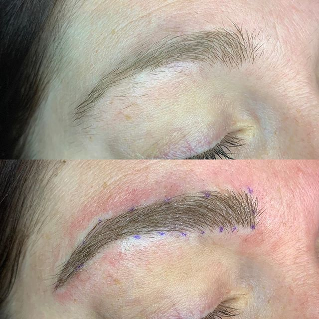Before and after microblading! Excuse th