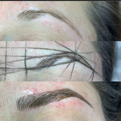Before-mapping-after microblading! Check