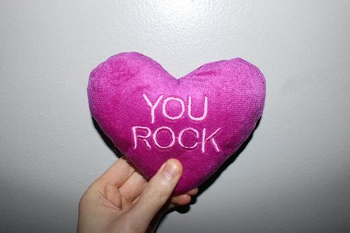 You Rock Heart Shaped Plush Toy