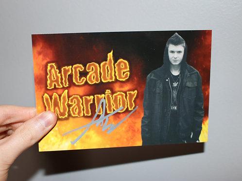 4x6 Arcade Warrior Autograph