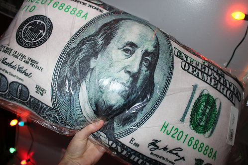 Giant $100 Money Pillow