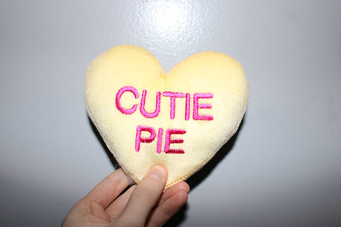 Cutie Pie Heart Shaped Plush Toy