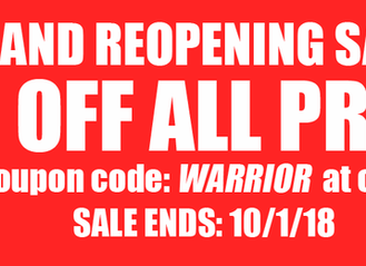 GRAND REOPENING SALE!
