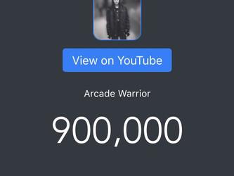 900,000 SUBSCRIBERS ON YOUTUBE!