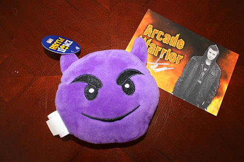 Purple Devil Emoji Plush Toy