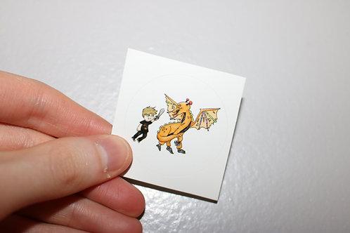 Arcade Warrior Dragon Stickers (5 Pack)