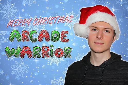Arcade Warrior Christmas Card