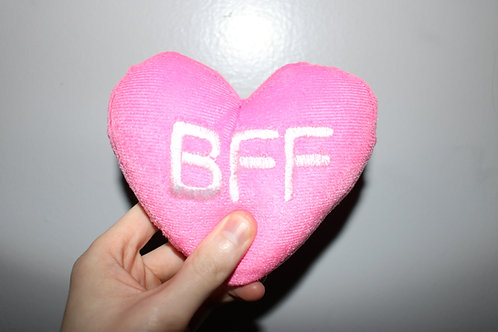 BFF Heart Shaped Plush Toy