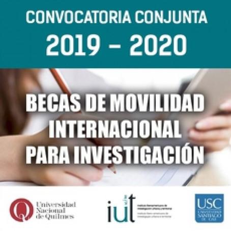 Convocatoria de movilidad internacional para investigación