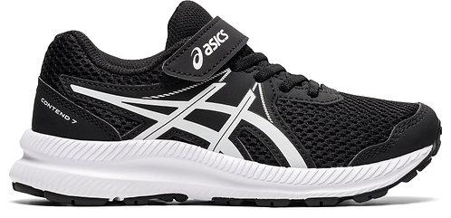 ASICS CONTEND 7 PS BLACK/WHITE
