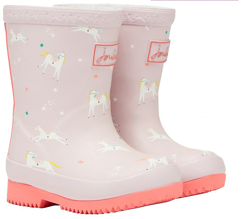 JOULES 209879 BABY WELLY PINK UNICORN