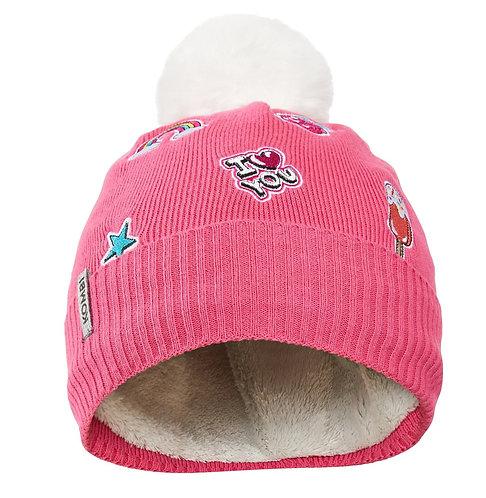H3669 FLASHY JUNIOR HAT 3156 HOT PINK