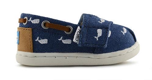 TINY BIMINI NVY Whale Embroidery
