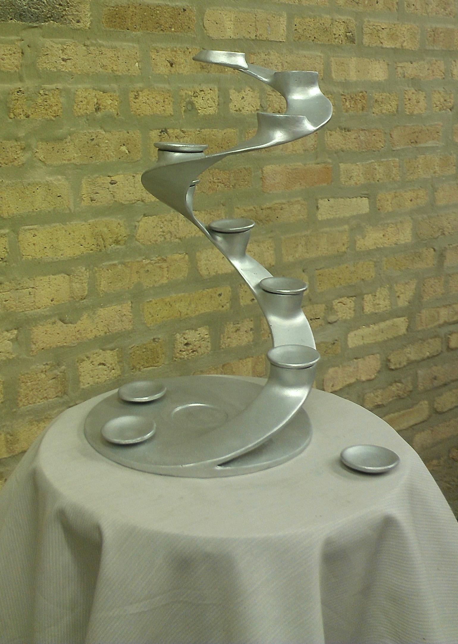 Cast Aluminum dessert server.