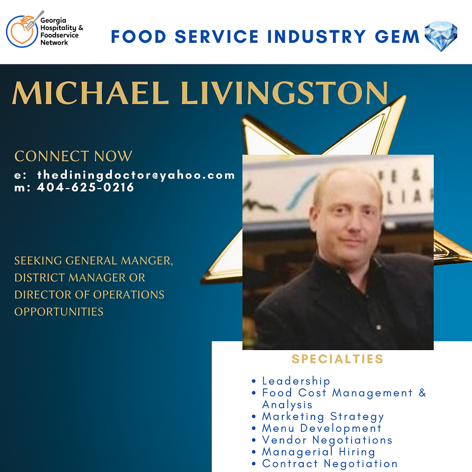 Foodservice Industry Gem Michael Livings