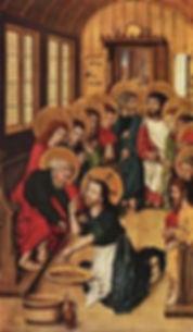 John 13 Christ washing the feet by Meist