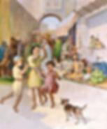 Matthew 11 Children Playing Marketplace.