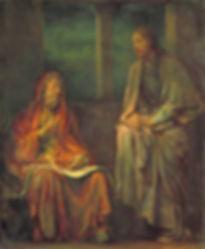 John 3 Nicodemus & Jesus by John La Farg