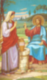 John 4 Samaritan Woman at the well mosai