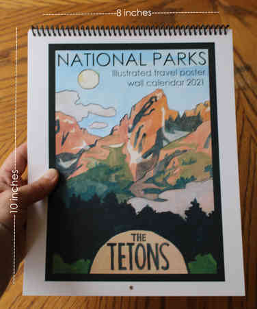 Wall Calendar 2021 National Parks