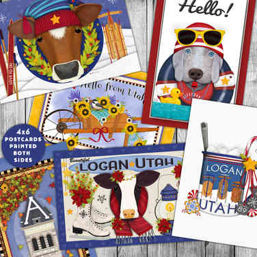 Logan Utah Seasonal Postcards