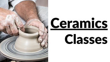 Ceramics Classes.  Click to find more information.